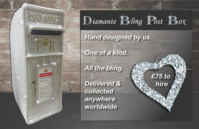 Diamante Bling Wedding Post Box for hire